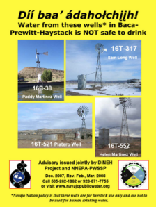 Addressing Uranium Contamination on the Navajo Nation (Photo Courtesy of http://www.epa.gov/region09/superfund/navajo-nation/contaminated-water.html )