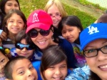 Me with some of my students, purest of hearts and their beautiful smiles...Go Angels!